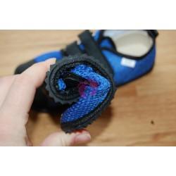 Beda barefoot světle modré vycházkové, tmavá podrážka, ohebnost