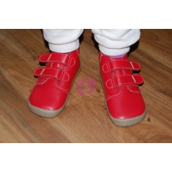 Beda barefoot celoroční Elis s membránou, červené na noze