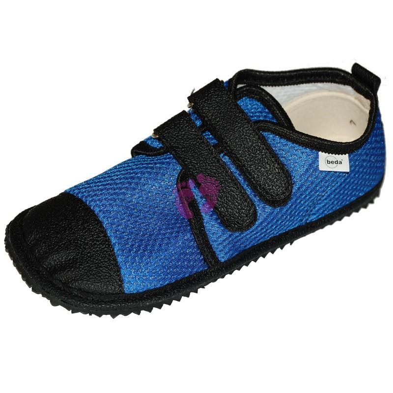 Beda barefoot světle modré vycházkové, tmavá podrážka