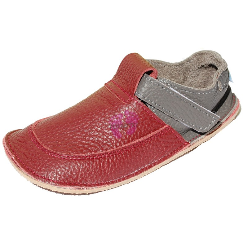 Baby Bare Shoes Outdoor Burgundy