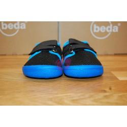 Beda barefoot Bobby vycházková obuv na suchý zip, zepředu