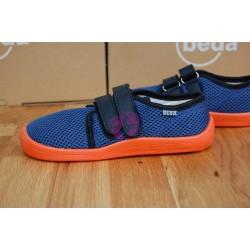 Beda barefoot Blue Mandarine síťované boty