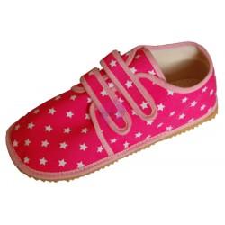 Beda barefoot světle růžové s hvězdami vycházkové tenisky