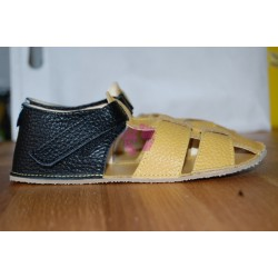 Baby Bare Shoes Ananas - páskové sandále žluté