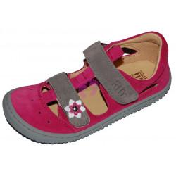 Filii Barefoot KAIMAN velcro velours pink/grey M