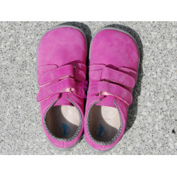 Beda barefoot Rebecca, růžové na suchý zip