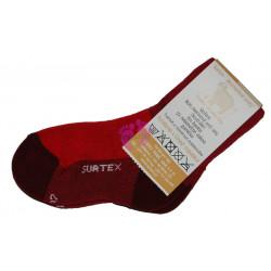 Surtex dětské Aerobic ponožky červené 80% merina