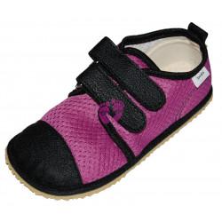 Beda barefoot fialové tenisky, světlá podrážka