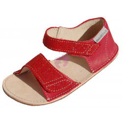 OKbarefoot sandálky MIRRISA BF D203 (šíře G), červené