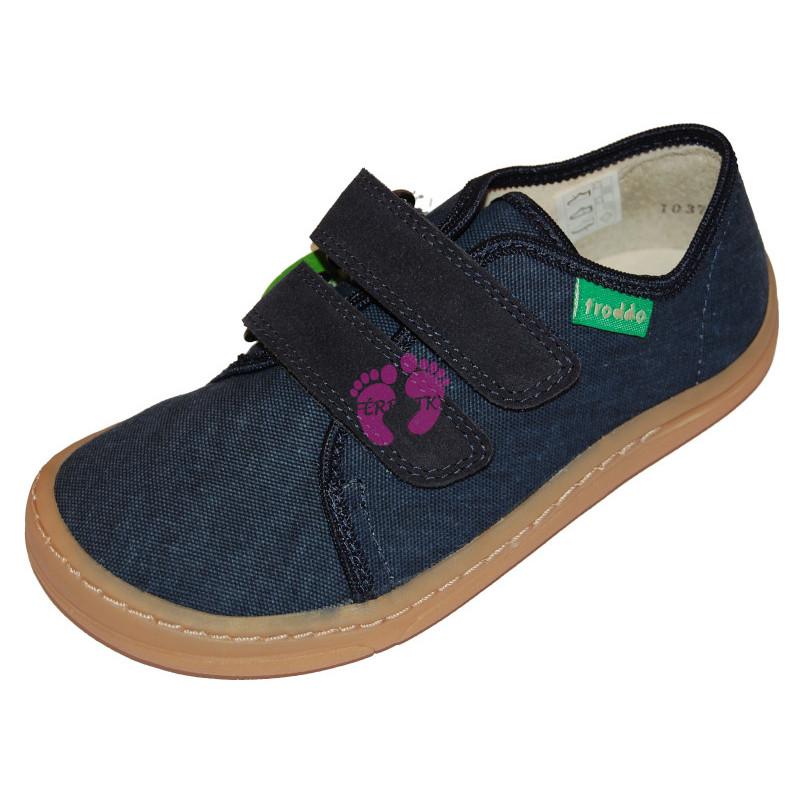 Dětské Froddo Barefoot tenisky - plátěné Dark Blue G1700270-2