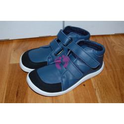 Baby Bare Shoes FEBO FALL Navy s okopem