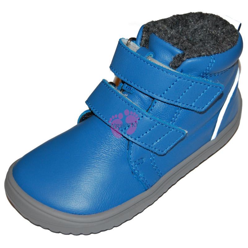 Dětské zimní barefoot boty Be Lenka Penguin - Blue