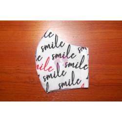 Velká látková rouška smile