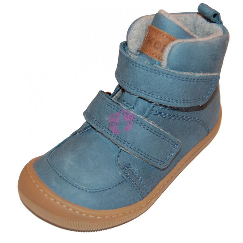 Dětské zimní boty Barefoot Koel Hidro Warm - Turquoise, merino