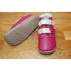 Zimní malinové barefoot Beda-boty