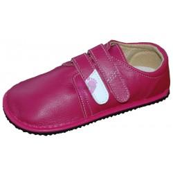 Beda boty - barefoot červené kožené - starší model